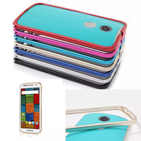 Luxury Ultra Thin Aluminum Metal Bumper Case Frame Cover For Motorola Moto X 2nd Gen 2014 X2 X+1 XT1097 mobile phone Cases(China (Mainland))