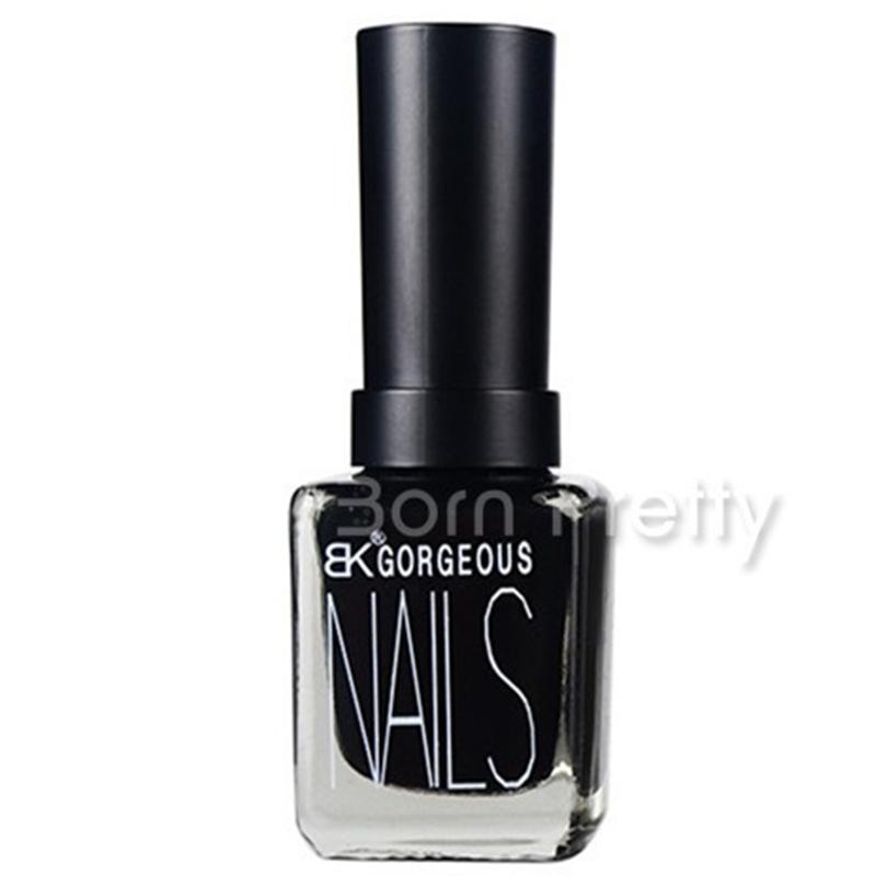 Black Color Matt Dull Polish Nail Enamel Nail Art Polish #15(China (Mainland))