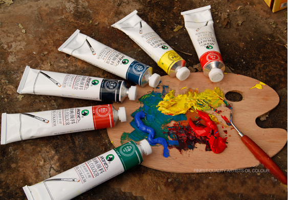 Online buy wholesale oil paints supplies from china oil for Materials for canvas painting