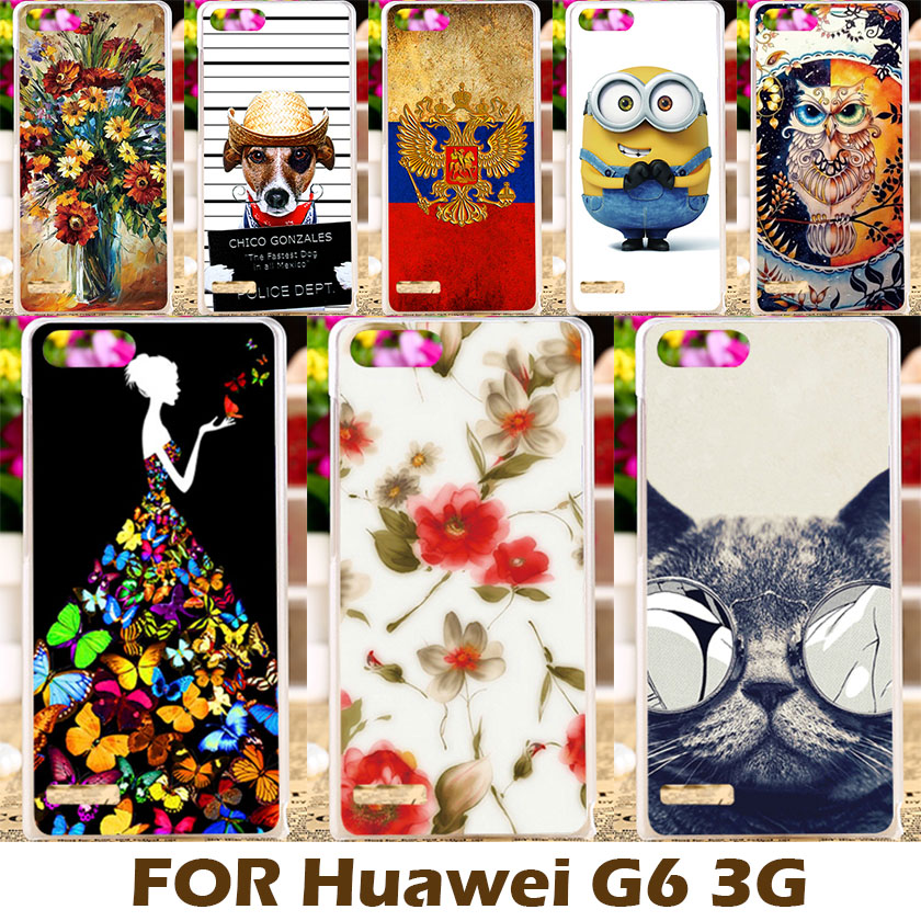 Top Selling Painting Design Hard Plastic Case For Huawei Ascend G6 3G P6 Mini 4.5 Inch Cell Phone Cover Shell Protective Sleeve(China (Mainland))