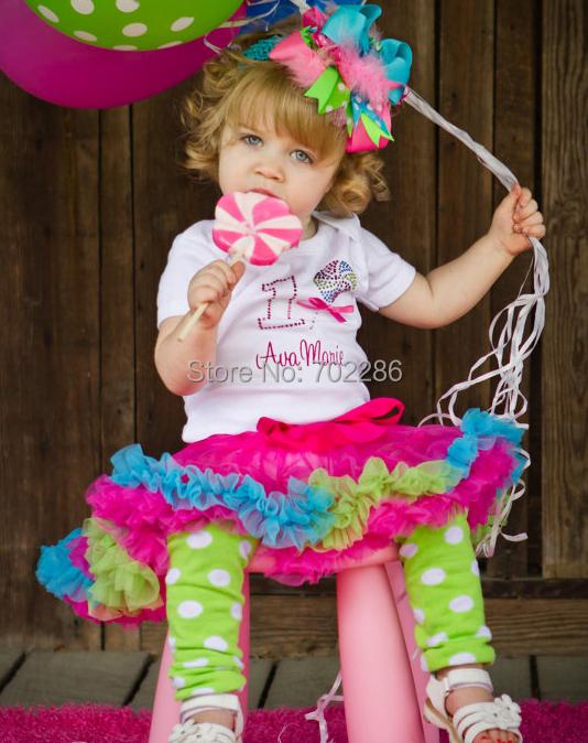 Baby girls tutu skirts Patchwork trim raspberry rainbow fluffy pettiskirts birthday party skirt PPER0005(China (Mainland))