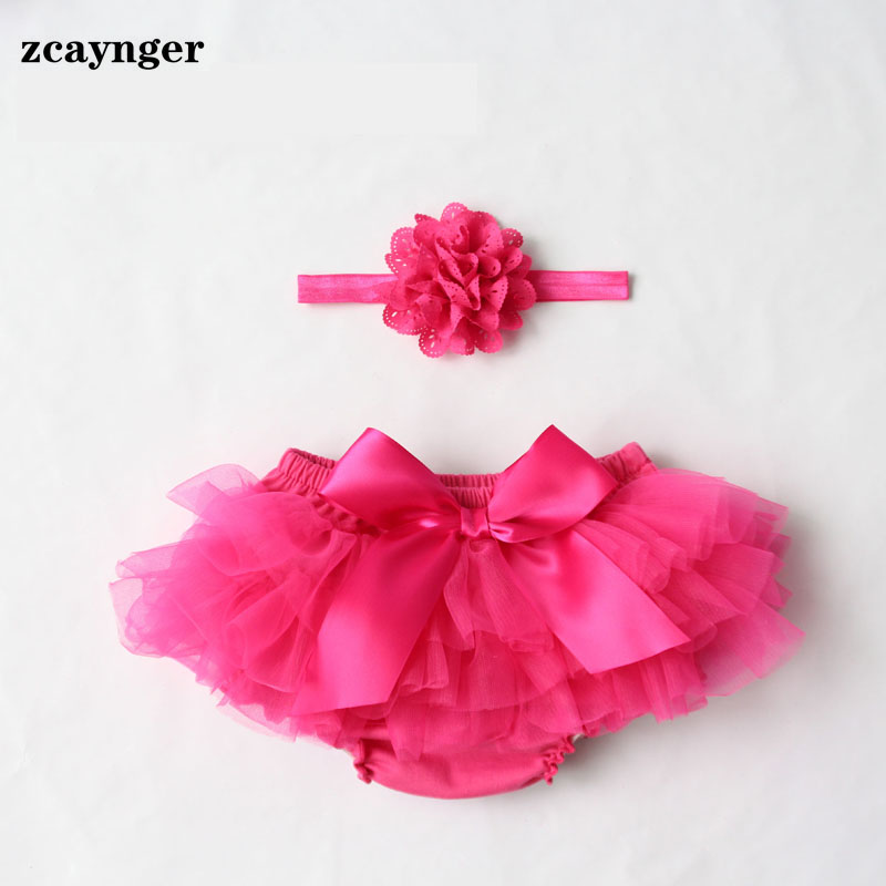 Lace Baby Bloomers And Headband Set Diaper Covers 2017 Baby Girl Cotton Ruffle Newborn Shorts Toddler Summer Pants(China (Mainland))