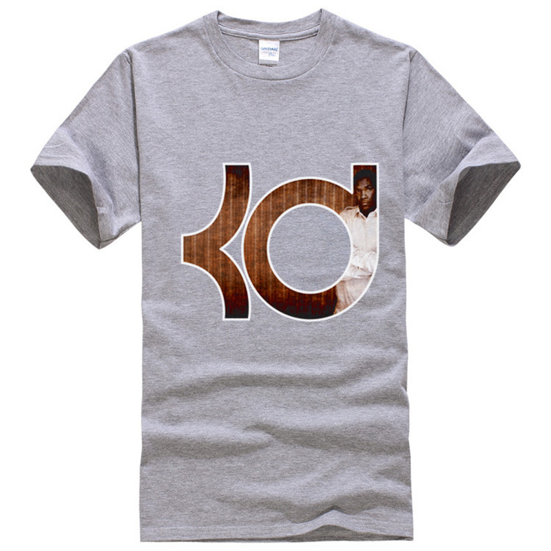 kevin durant Men T Shirts 2016 Brand T Shirts Grey Color KD Tee Shirt Homme Summer Women Fashion Streetwear Cotton Tops(China (Mainland))