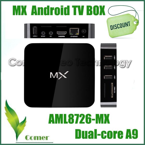 XBMC Fully Loaded MX TV Box Android 4.2 Dual Core 1G+8G Amlogic 8726 A9 HDMI WiFi DLNA Google Smart Mini PC MX Set-top Box(China (Mainland))