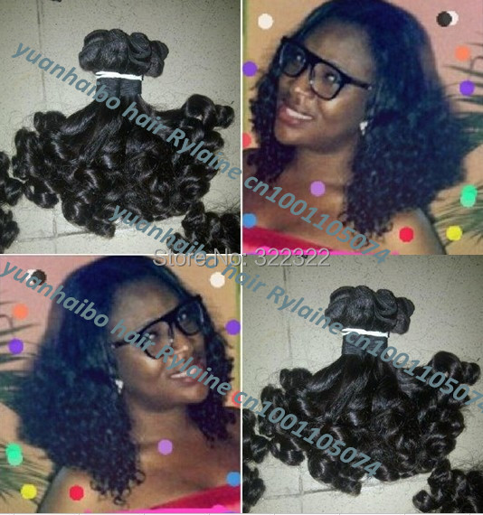Top quality 6a grade 1b# 3pcs/lot peruvian tip bouncy curls aunty funmi human hair weave for black women free shipping<br><br>Aliexpress