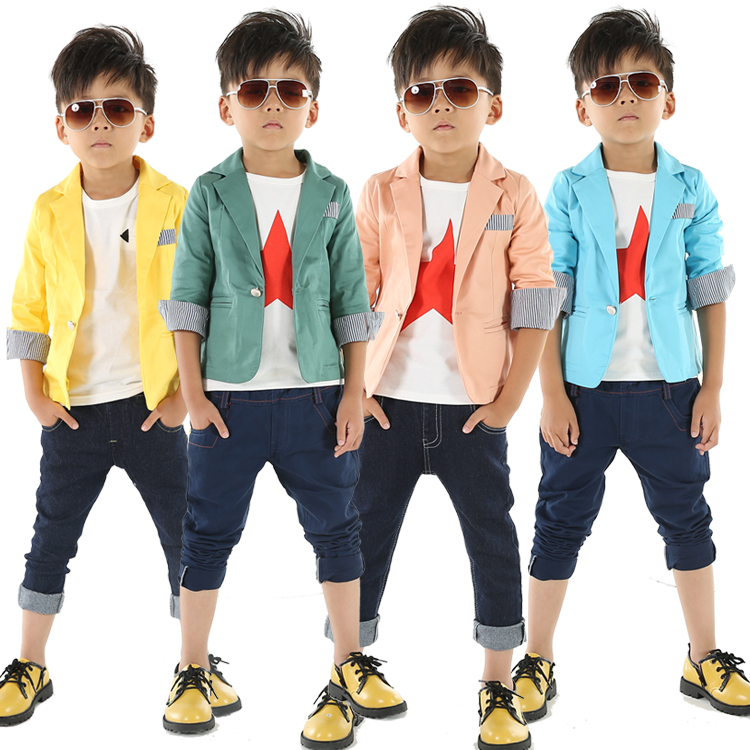 2017 spring autumn kids blazers child handsome suit baby boys blazer outerwear 3-c - Saa Kids store