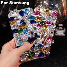 Bling Colorful Big Rhinestone Phone case cover Samsung Galaxy A3 A5 A7 J1 J3 J5 J7 2016 J2 A8 Handmade Diamond cases - ShenZhen YiHao Digital Co., Ltd. store