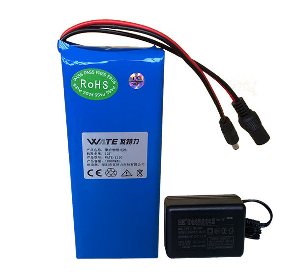 12v10ah 5A current lithium batteries lithium polymer battery(China (Mainland))