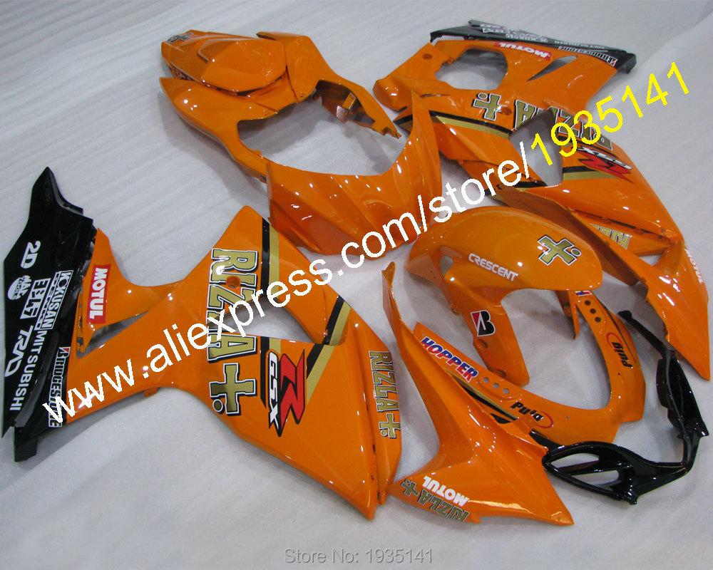 Hot Sales,Orange black Moto parts For Suzuki K9 GSXR1000 2009-2014 GSX R1000 09 10 11 12 13 14 body Fairing (Injection molding)