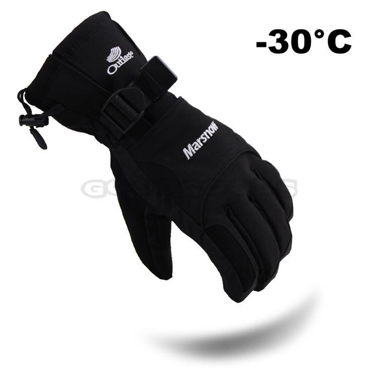 New 2014 Marsnow Mens -30 Degree Warm Ski Snowboard Gloves Snowmobile Motorcycle Winter Gloves Windproof Waterproof Snow Luvas <br><br>Aliexpress