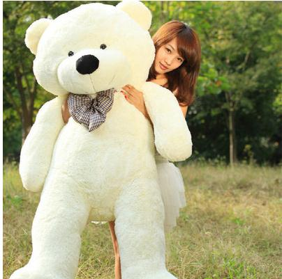 Hot Sale Jumbo Teddy bear cuddly toy large hold pillow doll embrace bear doll plush bear doll/lovers gifts Large size 160cm(China (Mainland))