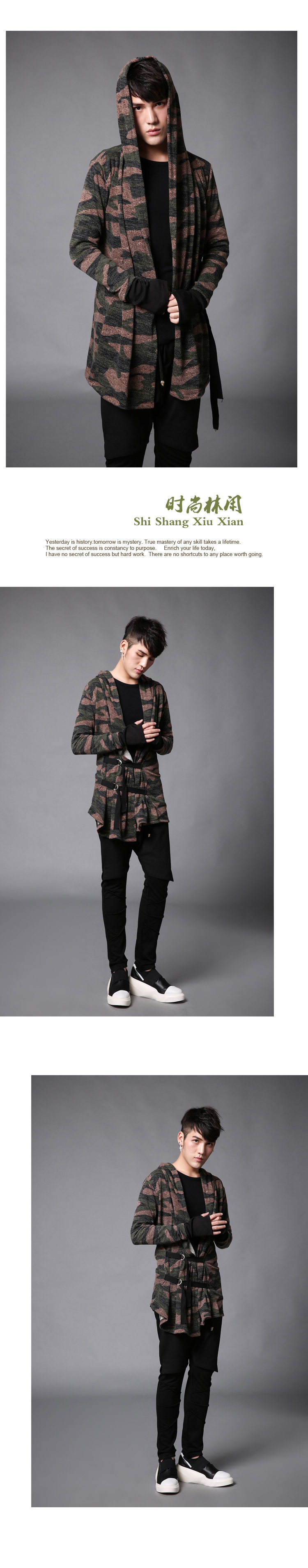 Spring Autumn New Mens Thin Jacket Red Green Camouflage Male Cardigan Coat Slim Fit Hooded Fashion Casual Jacket
