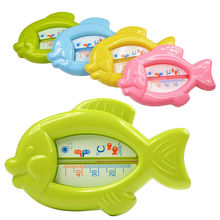 High Quality Baby Floating Fish Water Thermometer Plastic Float Bath Toy Tub Sensor 10-50C VCF73 P50(China (Mainland))