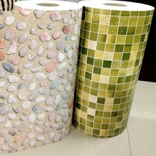 5M Roll Self adhesive egg stone PVC vinyl wallpaper waterproof wall sticker for Bathroom kitchen pebbles wall decals Home Decor(China (Mainland))