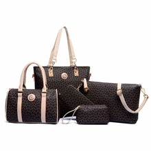 Buy 6 Sets Women Leather Neverfull Handbags Messenger Composite Bags women brand designer 2016 luxury Famous Brands Fashion Bag for $30.43 in AliExpress store