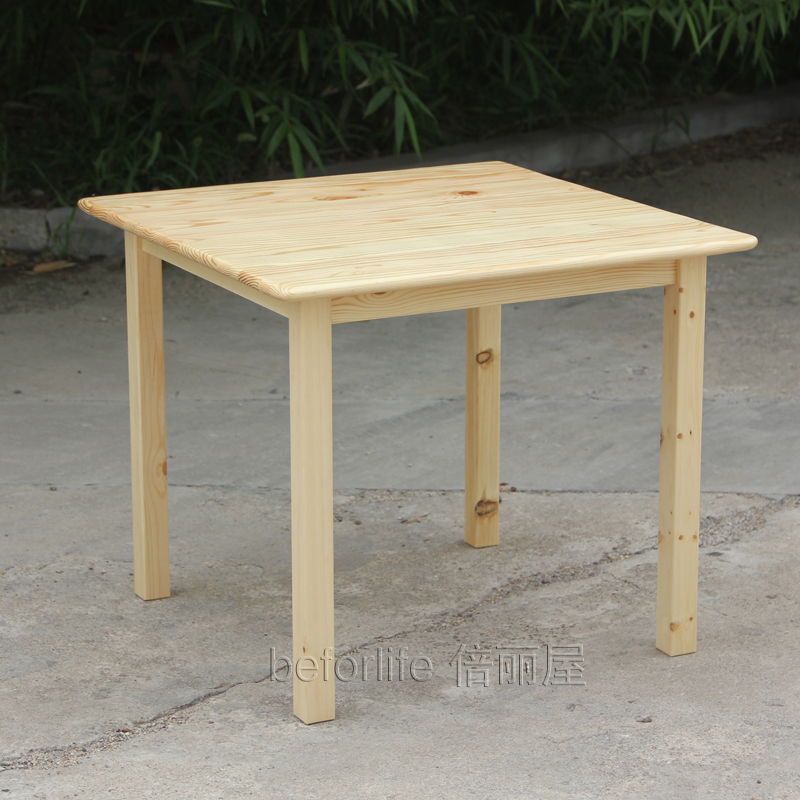Ikea Style Wood Tables Square Table For Children To Learn Tables Of Solid Wood Pine Coffee Table