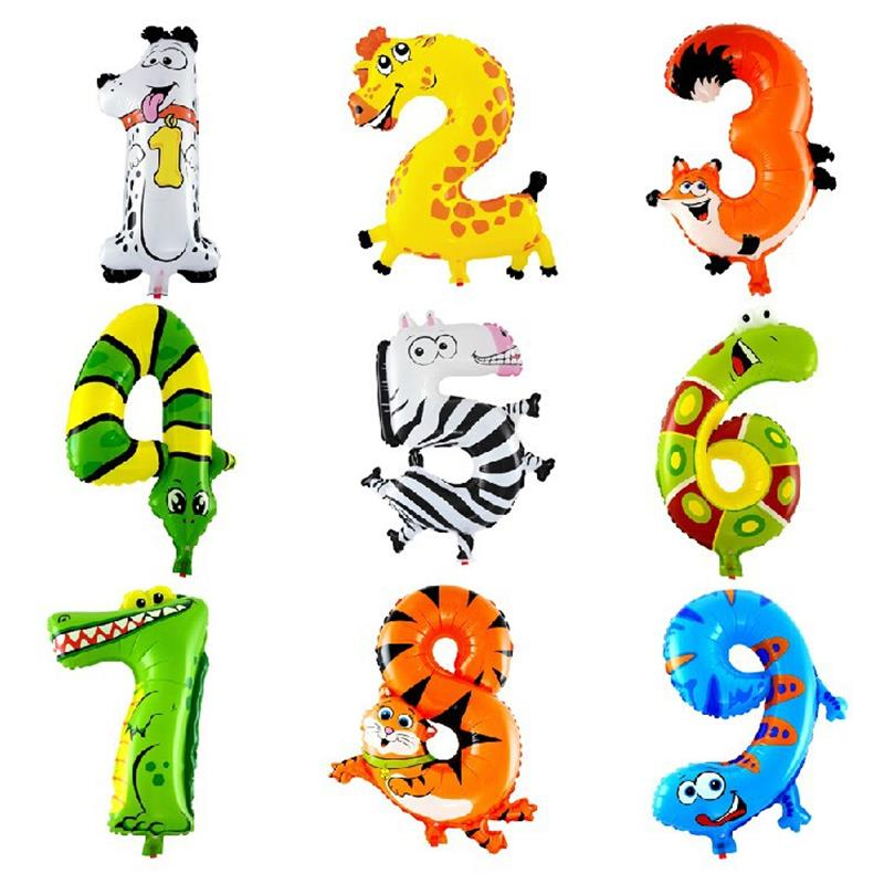 1PCS 16 inch Animal Number Foil Balloons Kids Party Decoration Ballon Happy Birthday Wedding Decoration<br><br>Aliexpress
