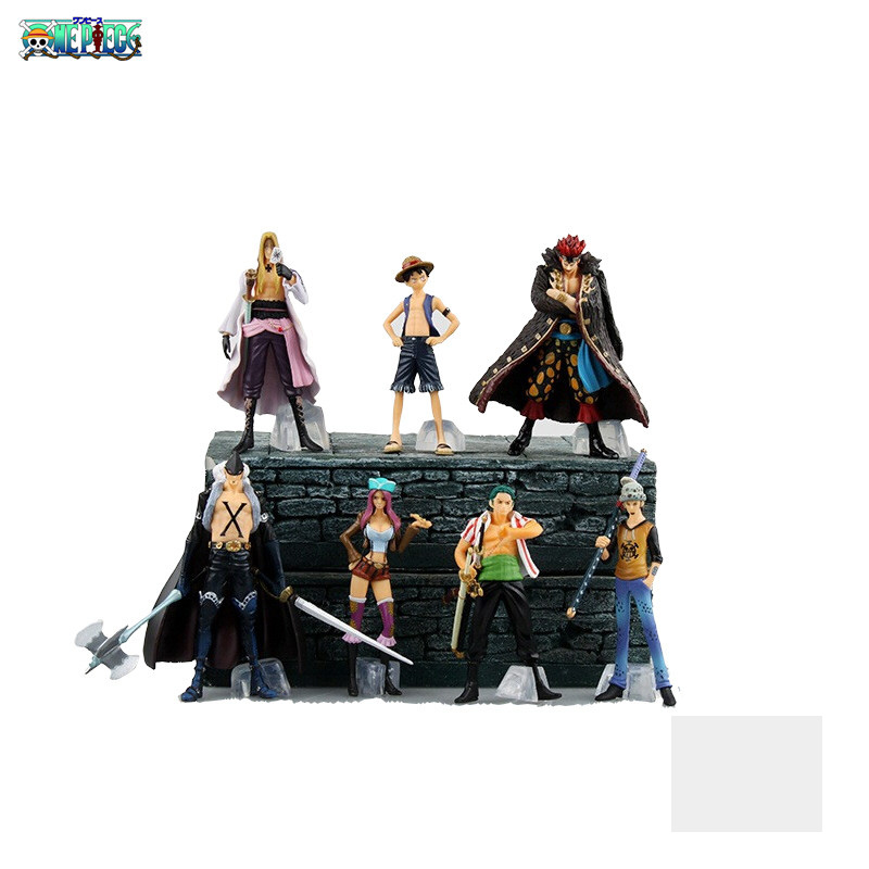 9.5-12cm 7PCS/lot PVC Japanese classic anime figure one piece action figure set collectible model toys for boys(China (Mainland))