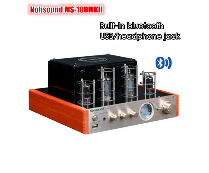 Music hall 2015 NEW Nobsound MS-10D MKII tube amplifier with Bluetooth/USB/headphone HIFI Stereo AMP audio amplifier 110-240V(China (Mainland))