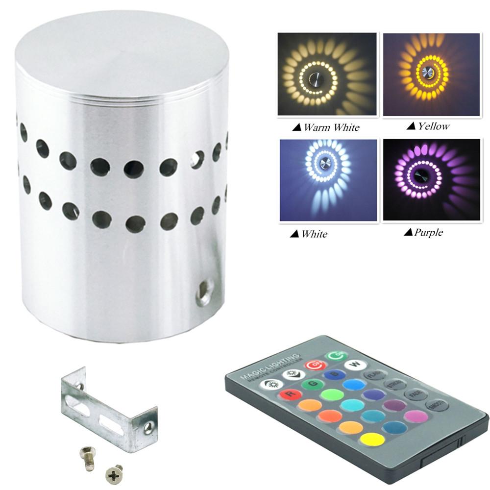 LED Wall Light 110V 220V RGB Wall Lamp KTV Karaoke Bar Decoration RGB Bulb with 24 Keys Remote Control for Party Clup Lighting(China (Mainland))
