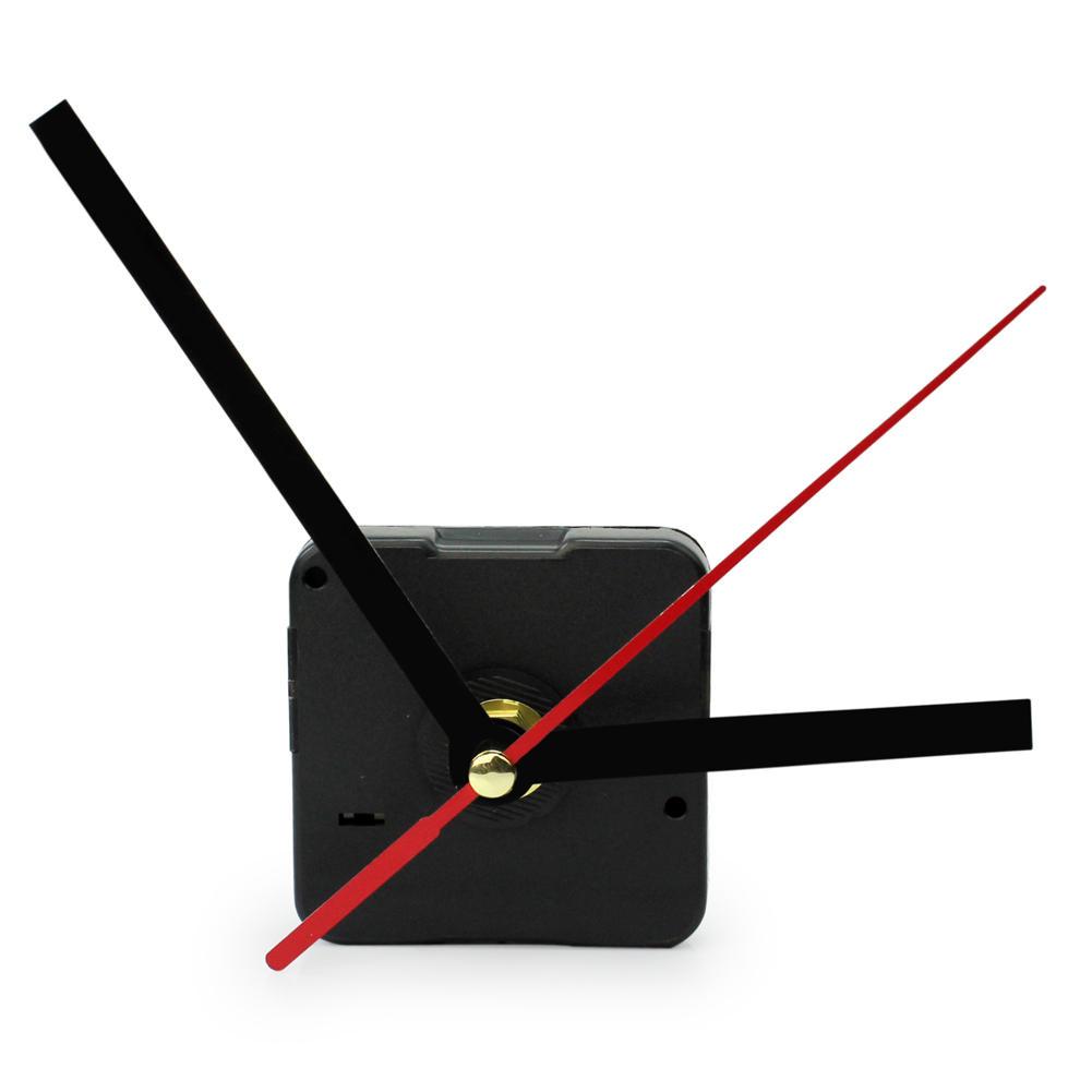 HOT SELL Black & Red Hands DIY Quartz Clock Mechanism Movement Black Quartz Wall Clock Repair Parts Replacing Making a Clock(China (Mainland))