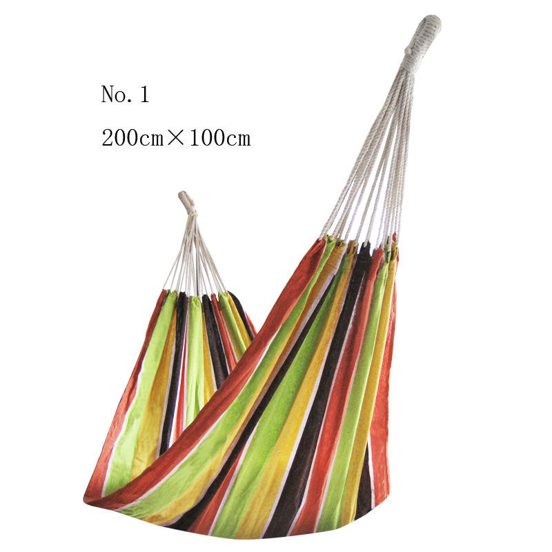Single Double thick canvas hammock Everyone Outdoor camping Bedroom in the swing<br><br>Aliexpress