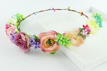 Korea Head crown garland hair accessory flower Artificial wreaths wedding ornament flowers wreath valentine corsage bridesmaid
