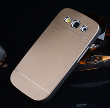 Luxury Gold Aluminum Back Cover Case For Samsung Galaxy S3 III Neo Duos i9300 GT-i9300 9300 Case Metal+PC Cases Shell Hot Sale(China (Mainland))