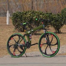 21speed 26 inch folding bicycle  standard configuration double disc bicycle adult bicycle unisex biycle