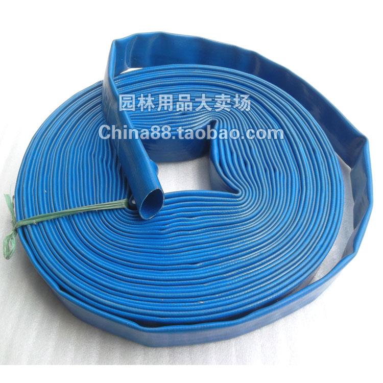 freeshipping 1 1 2 x100m blue water hose garden hose pvc hose flat hose w. Black Bedroom Furniture Sets. Home Design Ideas