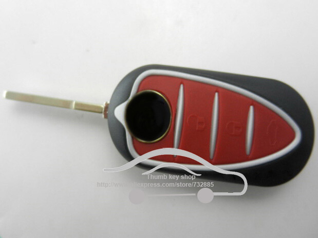 Brand New Replacement Keyless Entry Case Folding Flip Remote Key Shell for Alfa Romeo Mito Giulietta 159 GTA with logo(China (Mainland))