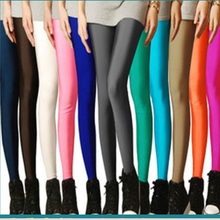 Sexy Solid Candy Neon Plus Size Women's Leggings High Stretched Sports Jeggings Fitness Clothing Ballet Dancing Pant(China (Mainland))