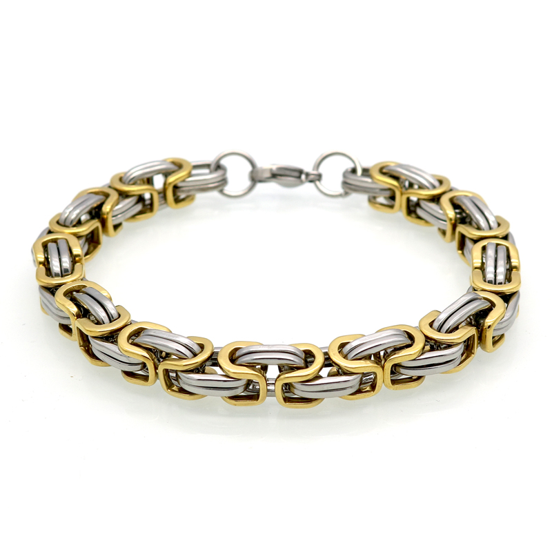 Classic design punk jewelry stainless steel bracelet for Biker jewelry stainless steel