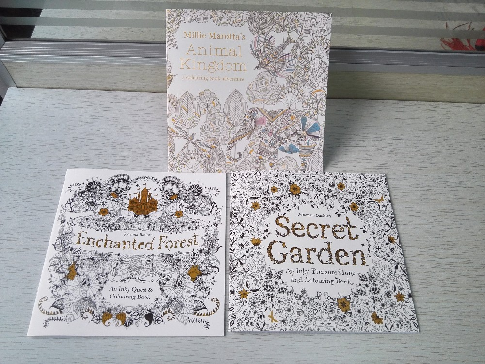 English EditionSecret Garden Animal Kingdom Enchanted Forest Coloring Book IMG 20160406 132358 132046 132236