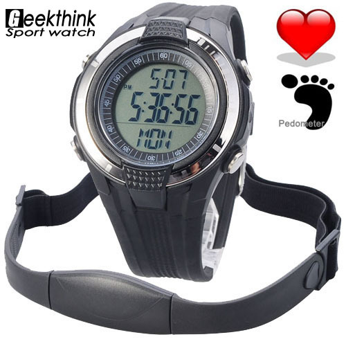 Chest Strap Heart Rate Monitor Calories Pedometer Digital pulse Mutifunction Sports Watches Exercise BMI Memory Mode Outdoor(China (Mainland))