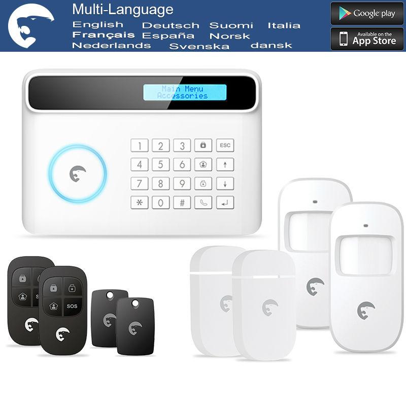 Home security Intruder Burglar gsm sms eTiger alarm S4 GSM/PSTN alarm system for Home/Office/Factory(China (Mainland))