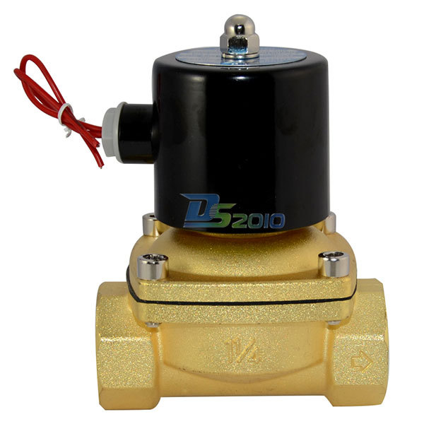 """Brand New High Quality 2 way Solenoid Valve NPT1.25"""" DC 12V Direct Air WOG normal closed Brass Electric(China (Mainland))"""