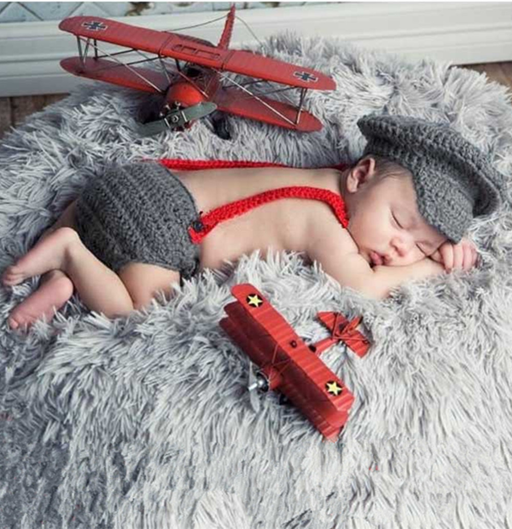 Newborn baby photography props costume cap infant crochet outfits accessories baby girl boy handmade knitted SY72(China (Mainland))