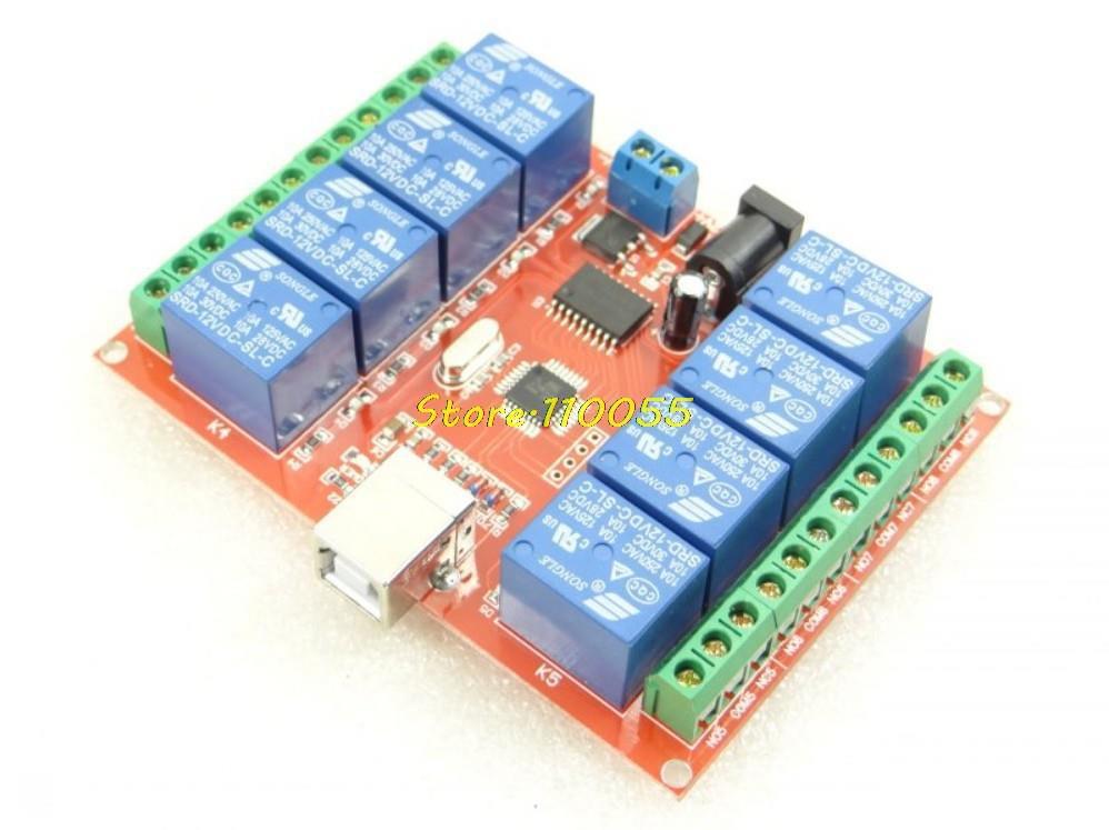 2pcs Lot 8 Channel 12v Relay Module Computer Usb Control