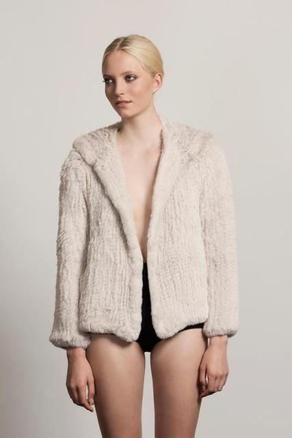 FC006 зима женщины 100% реального шуба кролика ручной вязки стиль с капюшоном надувательство фабрики сразу