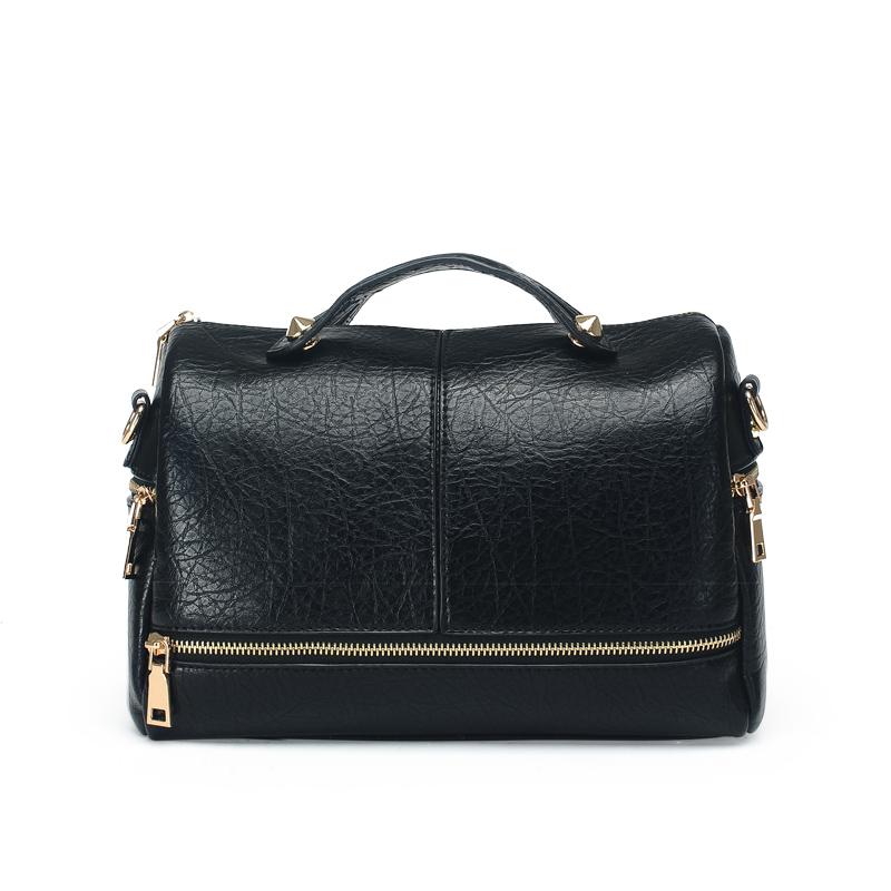 2016 Women Messenger Bags Fashion Pillow Handbags Ladies Pu Leather Shoulder Casual Solid Cross Body Boston Bag