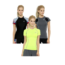 Quick Dry Women Compression Short Jersey Female Tops Running Bodybuilding Tees Summer Style Outdoor Exercise Clothing for Girls