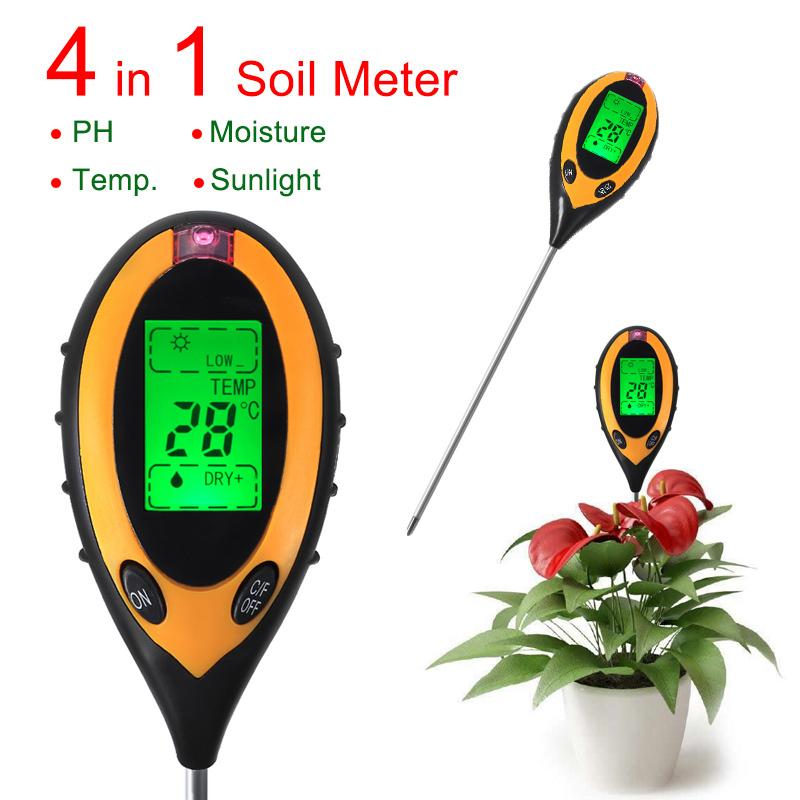 4 в 1 цифровой рн-метр / почвы
