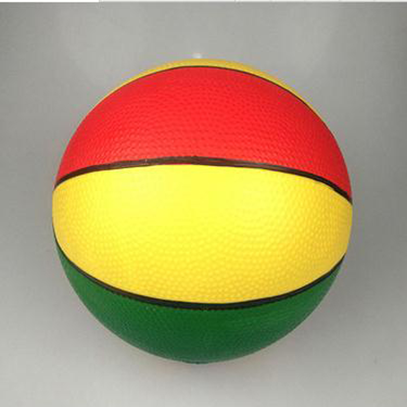 Outdoor Fun Sports Toy Color Basketball Thickening Children Inflatable Toys Ball Small Balls Kindergarten Clap Interesting(China (Mainland))
