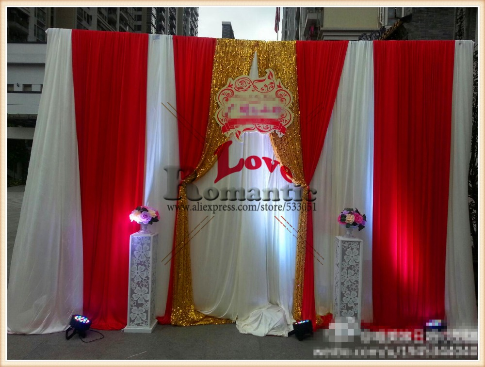 3x3M Wedding Backdrop Wedding Curtain Drapes Backdrop+Swag Pleated For Wedding Event&Party&Home Decoration(chair covers/sash)(China (Mainland))