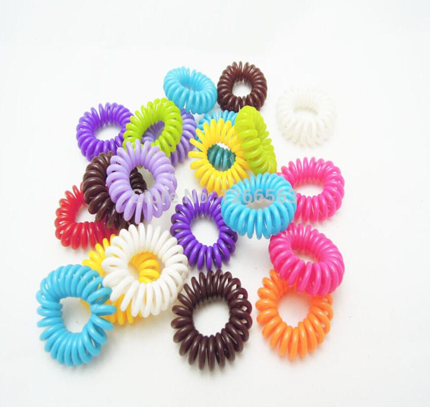 Telephone Bracelet Hair Accessories Gum Plaiting Candy Colors Elastic Hair Bands Invisi Bobble Scrunchy Hair Ties Cintillos 5pcs(China (Mainland))