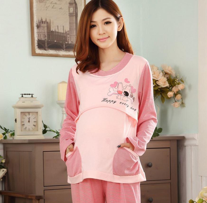 New Nursing Sleepwear for Pregnant Women Plus Size Nursing Nightwear ...