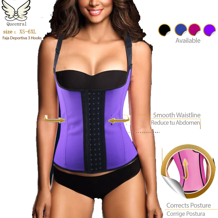 waist training corsets hot boby shapers sexy slimming belt latex waist cincher latex waist trainer Steel Boned Corselet Bustiers(China (Mainland))