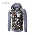 Men s Spring Autumn Camouflage Splicing Sleeve Sweatshirts Hoodies assassins creed pullover Hoodie Casual Homme homens