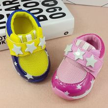 0-2 years old baby sports shoes unisex first time toddler shoes pink yellow outdoor walking shoes wholesale(China (Mainland))